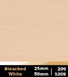 Bleached White 25mm cod 209    Bleached White 50mm cod 5209