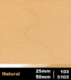 Natural 25mm cod 103 | Natural 50mm cod 5103